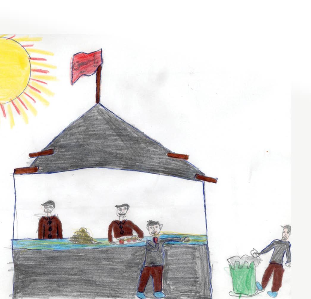 نقاشی از دوست خوب «فرفره» احسان قربانی،  ۱۰ ساله